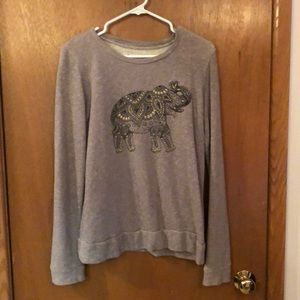 Embroidered elephant sweater